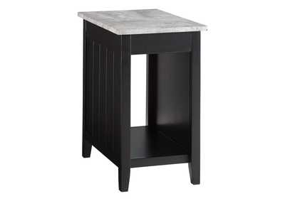 Diamenton Black Chair Side End Table