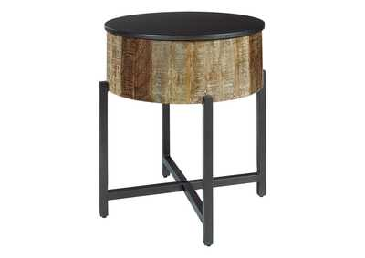 Nashbryn Gray/Brown End Table