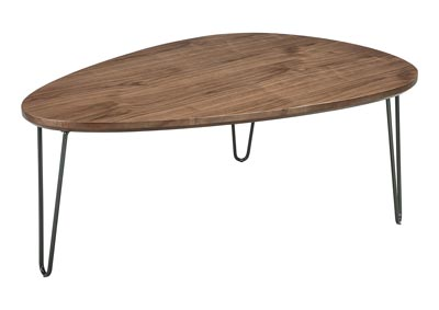 Courager Brown/Black Triangle Cocktail Table