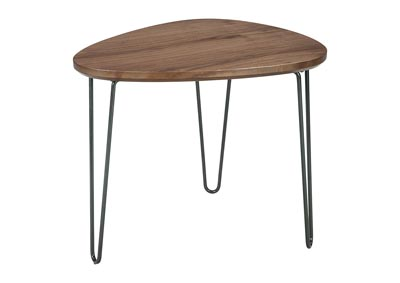 Courager Brown/Black Triangle End Table