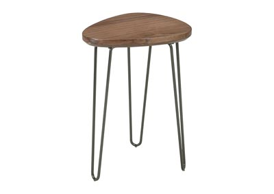 Courager Brown/Black Chair Side End Table
