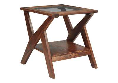 Charzine Brown End Table
