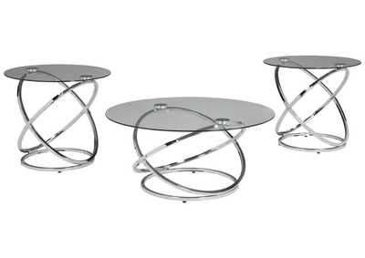 Image for Hollynyx Chrome Occasional Table Set (Set of 3)