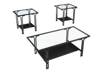 Geriman Black Occasional Table (Set of 3)