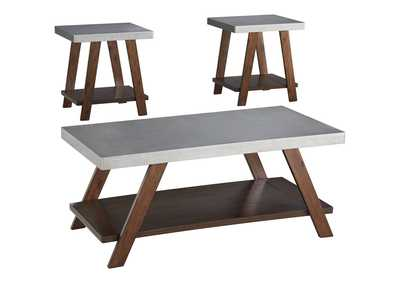 Image for Bellenteen Brown/Silver Finish Occasional Table Set