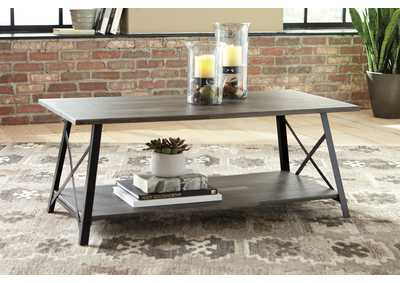 Harzoni Gray/Brown Coffee Table