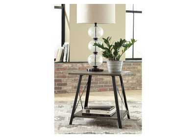 Harzoni Gray/Brown End Table