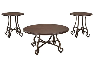 Carshaw Brown Occasional Table Set (Set of 3)