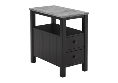 Ezmonei Black/Gray Chair Side End Table