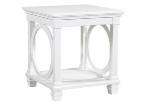 Mintville White Square End Table
