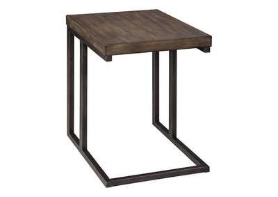 Johurst Grayish Brown/Black End Table