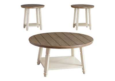 Bolanbrook Two-Tone Occasional Table Set (Set of 3)