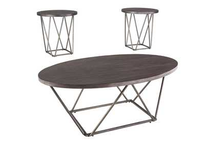 Neimhurst Dark Brown Occasional Table Set (3/CN)