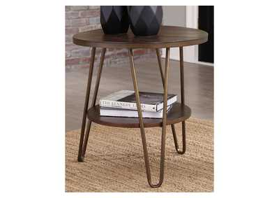 Lettori Brown End Table