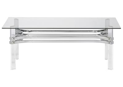 Braddoni Chrome Rectangular Cocktail Table
