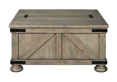 Aldwin Grey Cocktail Table w/Storage