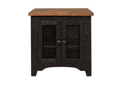 Valebeck Black Rectangular End Table