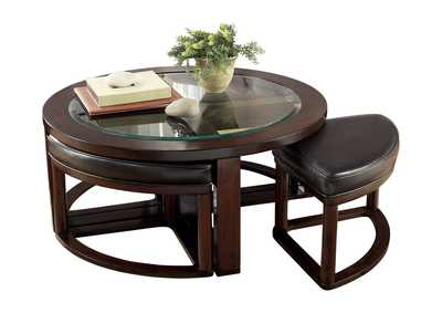 Image for Marion Cocktail Table w /4 Stools