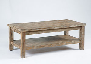 Rustic Rectangular Cocktail Table