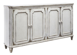 Mirimyn Antique White 4 Door Accent Cabinet