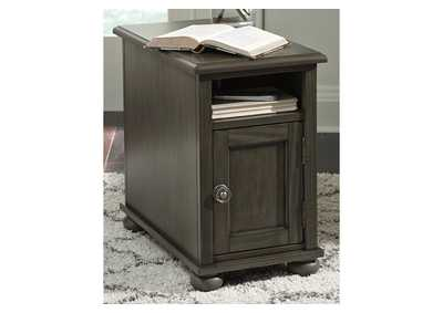 Devensted Gray Chairside Table