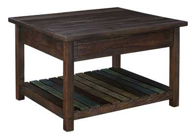 Mestler Brown Coffee Table w/Lift Top
