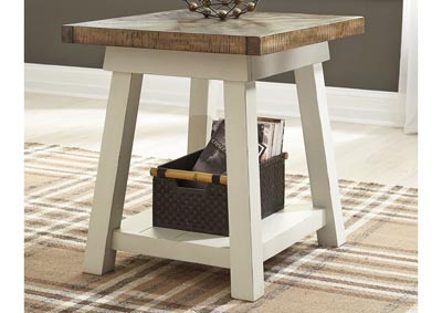 Strolburg Brass Finish Rectangular End Table