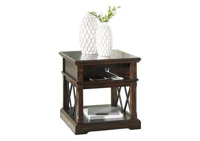 Roddinton Dark Brown Rectangular End Table