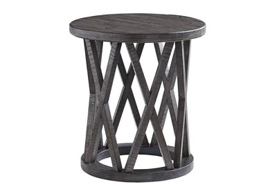 Image for Sharzane Grayish Brown Round End Table