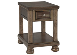 Flynnter Medium Brown Chair Side End Table