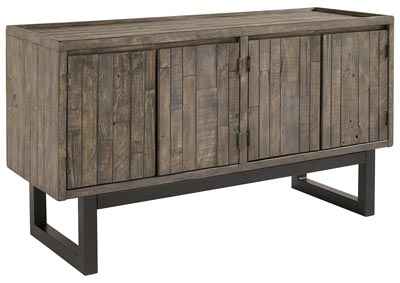 Cazentine Grayish Brown/Black Accent Cabinet