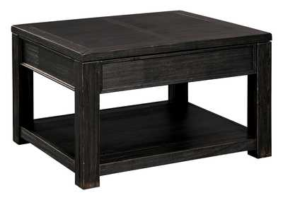Gavelston Black Coffee Table w/Lift Top