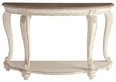 Image for Realyn White/Brown Sofa Table