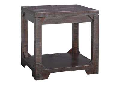 Rogness Rustic Brown Rectangular End Table
