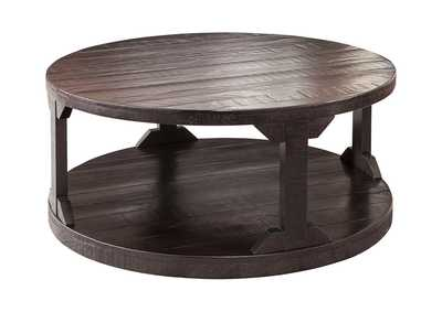 Image for Rogness Rustic Brown Round Cocktail Table