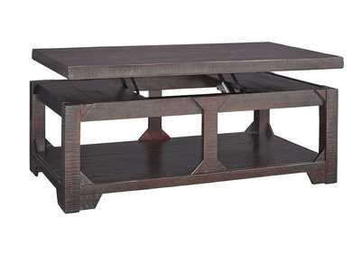 Image for Rogness Rustic Brown Lift Top Cocktail Table