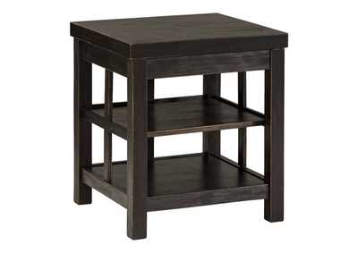 Image for Gavelston Rubbed Black Square End Table