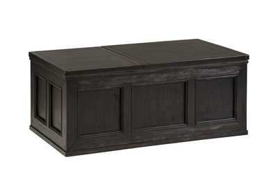 Image for Gavelston Rubbed Black Lift Top Cocktail Table