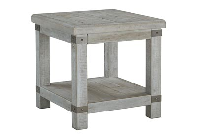Carynhurst White Wash Gray End Table