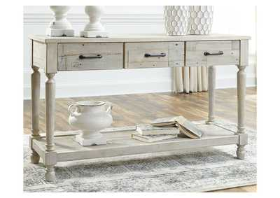 Shawnalore White Console Table