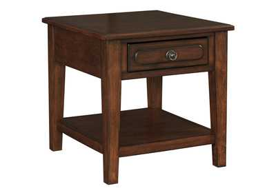 Adinton Red End Table