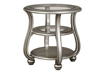 Image for Coralayne Silver Finish Round End Table
