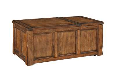 Tamonie Medium Brown Rect Lift Top Cocktail Table