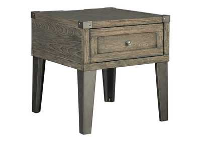 Chazney Rustic Brown End Table