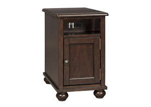 Barilanni Dark Brown Chair Side End Table