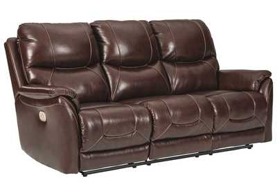 Dellington Walnut Power Reclining Sofa