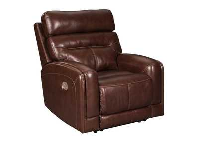 Sessom Walnut Power Recliner w/Adjustable Headrest