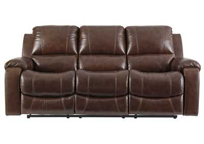 Rackingburg Mahogany Power Reclining Sofa