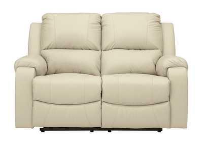 Image for Rackingburg Cream Reclining Loveseat