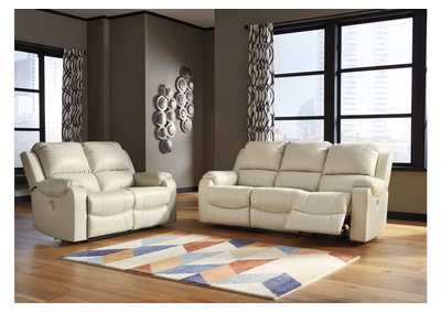 Rackingburg Cream Power Reclining Sofa & Loveseat